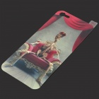 i-color 3D Skeleton King Style Protective Back Skin Sticker for iPhone 5 - Grey + Red