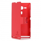 NILLKIN Protective PU Leather + PC Case for Sony M35h Xperia SP - Red