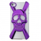 Creative 3D Skull Style Plastic Plating Back Cover Case for Iphone 4 / 4S - Purple