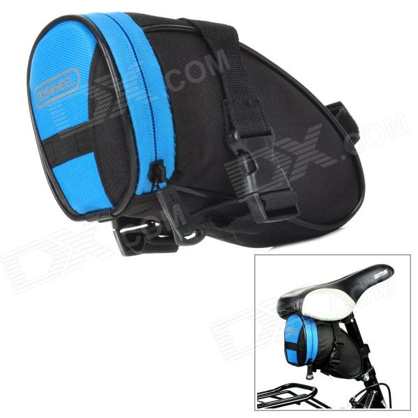 ROSWHEEL Cycling Bicycle Bike Saddle Seat Dacron + PVC Tail Bag - Black + Blue (1L)