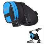 SORWHEEL Cycling Bicycle Bike Saddle Seat Dacron + PVC Tail Bag - Black + Blue (1L)