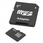 High Speed TF / Micro SDHC Card w/ TF to SD Card Adapter (4GB / Class 10)