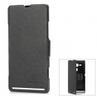 NILLKIN Protective PU Leather + PC Case for Sony M35h Xperia SP - Black