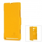 NILLKIN Fresh Series Protective PC Flip-open Case for Sony M35h - Yellow