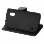 Lychee Pattern Protective PU Leather Case for LG Nexus 4 E960 - Black