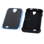Cool Basketball Skin Pattern Silicone Protective Back Case for Samsung i9500 - Black + Blue