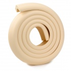 Kids Thicken Soft Rubber Foam Table Edge Corner Safety Guard Strip w/ Adhesive Tape - Beige (2M)