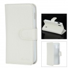 Lychee Pattern Protective PU Leather + PC Flip-open Case for LG E960 - White