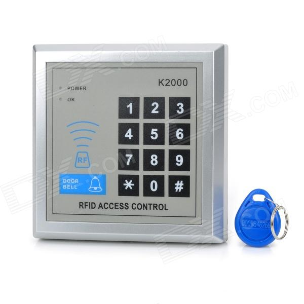 K2000 Password Access Control ID Card Reader Stand-alone Single Door System - Silver Gray