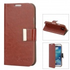 ALIS Stylish Flip-open Protective PU Leather Case for Samsung Galaxy S4 i9500 - Deep Brown