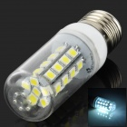 SENCART E27 6700K 160lm 30-SMD 5050 LED White Light Bulb - White + Transparent (12-24V)