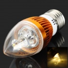 E27 3W 3500k 150lm 3-LED Warm White Light Candle Light - Golden + White (220V)