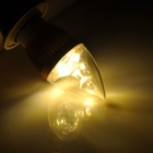 E27 3W 3500k 150lm 3-LED Warm White Light Candle Light - Golden + Blanc (220V)