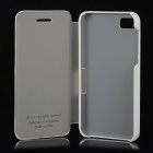 HOCO Retro Protective PU + PC Flip-open Case for Blackberry Z10 - White