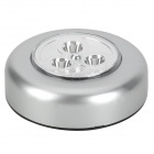 Touch Control Easy-stick 3-LED White Light Cabinet Light - Silver (3 x AAA)