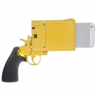 Pistol Style Protective Plastic Case for Iphone 5 - Golden + Black