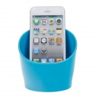 Cup Style Plastic Audio Amplifier for Iphone 4 / 4S -  Blue