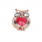 Stylish Owl Style Drill Home Button Sticker for Iphone 5 / 4S / Ipad - Golden + Deep Pink