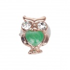 Stylish Owl Style Drill Home Button Sticker for Iphone 5 / 4S / Ipad - Golden + Green