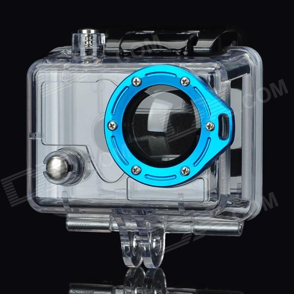 цена на Miniisw Professional Gopro Hero2 Side Open Protective Case w/ Strap Ring - Transparent + Blue