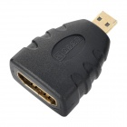 MILLIONWELL 01.0433 24K Gold-Plated Female to Micro HDMI Male Adapter - Black