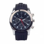 Super speed V0147 Fashionable Men's Analog Quartz Wrist Watch  - Black  + White + Silver(1 x LR626)