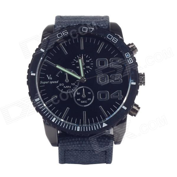 SuperSpeed V0166B Fashionable Men's Stainless Steel Linen Quartz Analog Wrist Watch (1 x LR626 )