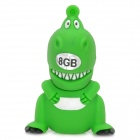 Cartoon Dinosaur Figure USB 2.0 Flash Drive - Green (8GB)