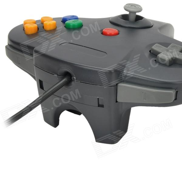 Online Wired Joystick Video Game Controller for Nintendo 64 - Black (200cm-Cable)