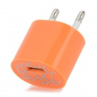 ABS USB-EU-2-Round-Pin-Stecker Power Adapter Ladegerät für iPhone 5 - Orange