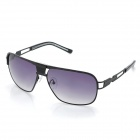 LANGTEMENG J58143 Men's Cool UV400 Anti-glare Resin Lens Sunglasses - Gray + Black