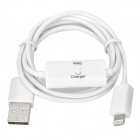 USB to 8pin Lightning Data Cable w/ Switch for iPhone 5 / iPad MIni / iPod Touch 5 / Nano 7 - White