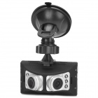 "2.7"" TFT 1.3MP CMOS Two Lens Wide Angle Car DVR w/ Mini HDMI / 6-IR LED / USB / TF - Black + Silver"