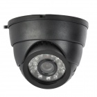 1/4 CMOS 300KP Surveillance Security / Digital Video Camera w/ TF / 24-IR LED Night Vision - Black