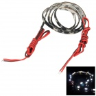 3W 450lm 6000K 30-335 SMD LED White Light Car Lamp Strip - Black (60cm)