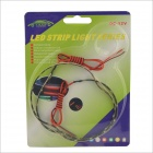 3W 450lm 6000K 30-335 SMD Cold White Light Car Lamp Strip