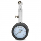 JR Portable High Precise Plastic + Aluminum Alloy Car Tire Pressure Gauge - Black + Silver