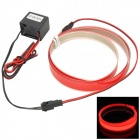 Waterproof 0.5W 20lm 700nm Red EL Light Decorative Lamp - Red (70cm)