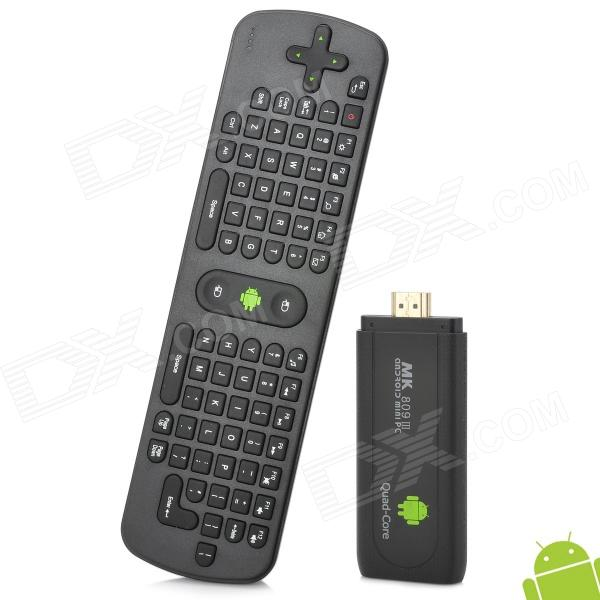 MK809IIIT Quad-Core Android 4.2.2 Mini PC Google TV Player w/ Air Mouse / 2GB RAM / 8GB ROM - Black