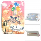 Skull Pattern Protective PU Leather Screen Protector for iPad Mini - Pink + Multicolored
