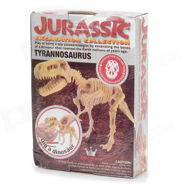 BWL-01 Tyrannosaurus Dinosaur Skeleton Model Excavation Archaeology Toy Kit - White bwl 01 tyrannosaurus dinosaur skeleton model excavation archaeology toy kit white