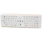 2-in-1 2.4GHz Wireless QWERTY Keyboard + Air Mouse w/ Gyro - Orange + White (2 x AAA)