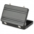 Mini Aluminum Alloy Name Card Holder Case - Black
