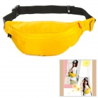 Mrace Stylish Light Practical Nylon Outdoor Exercise Waist Bag - Yellow