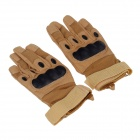 Stylish Tactical Protective Full-finger Gloves - Coyote Tan (Pair / Size-XL)