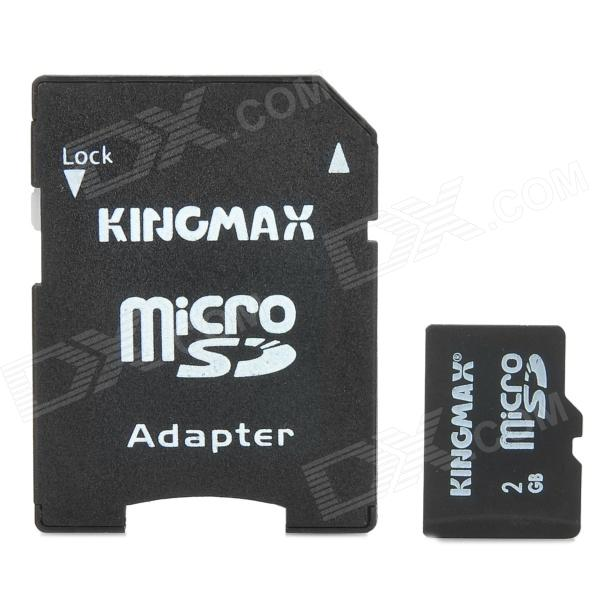 KINGMAX TF / Micro SD Card w/ TF to SD Card Adapter (2GB / Class 4)