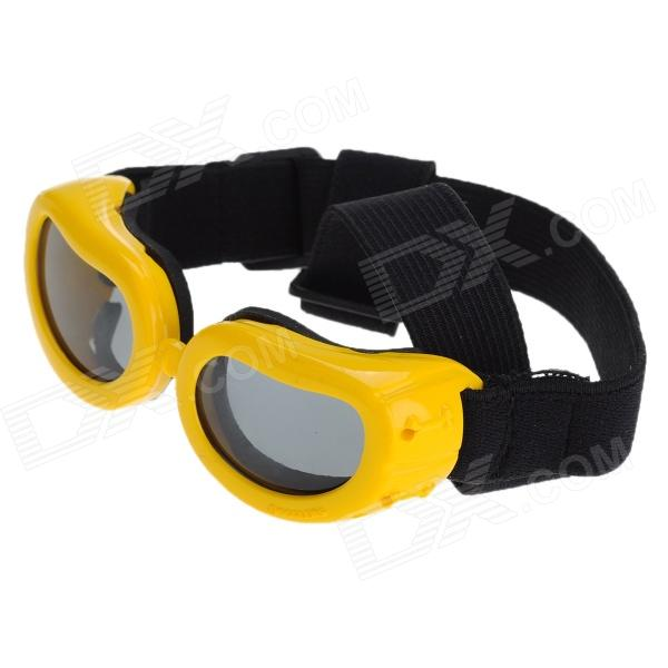 Pet Dog Outdoor Eye Protection Goggles Glasses - Yellow + Black topeak outdoor sports cycling photochromic sun glasses bicycle sunglasses mtb nxt lenses glasses eyewear goggles 3 colors