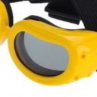 Pet Dog Outdoor Eye Protection Goggles Glasses - Yellow + Black
