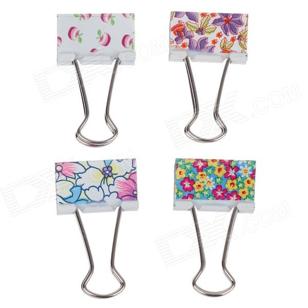 M&G ABS91624 32mm Printing Binder Clips - Multicoloured (12 PCS) stainless steel file binder clips set 12 pcs