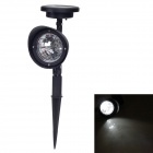 MD9541W Solar Powered Self-Recharged Automatic 4-LED White Garden Light  -Black